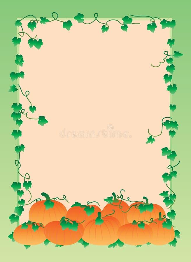 Cadre de gradient de potiron illustration stock