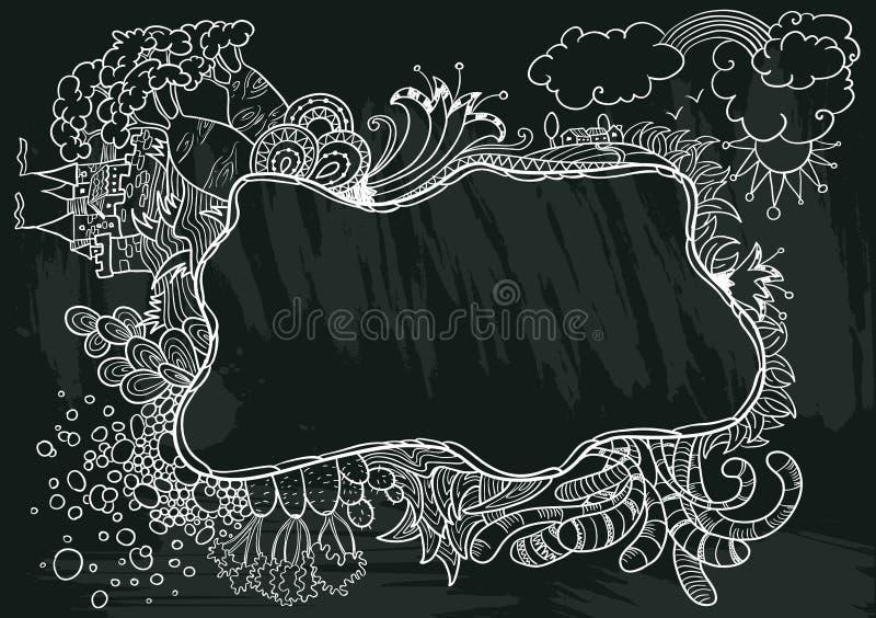 Cadre de griffonnage illustration stock