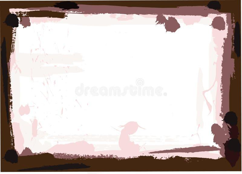 Cadre de grunge de Brown foncé illustration libre de droits