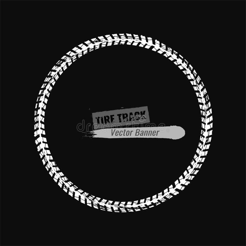 Cadre de grunge de pneu illustration libre de droits