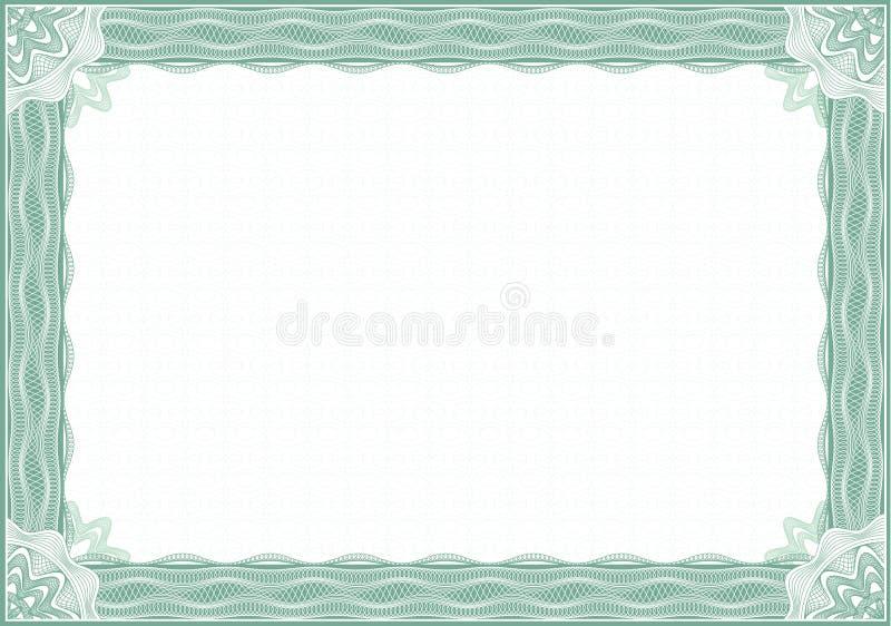 Cadre de guilloche pour le diplôme ou le certificat illustration libre de droits