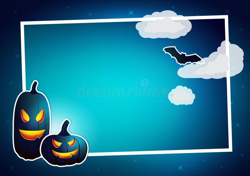 Download Cadre De Halloween De Vecteur Illustration de Vecteur - Illustration du copie, vide: 45357597