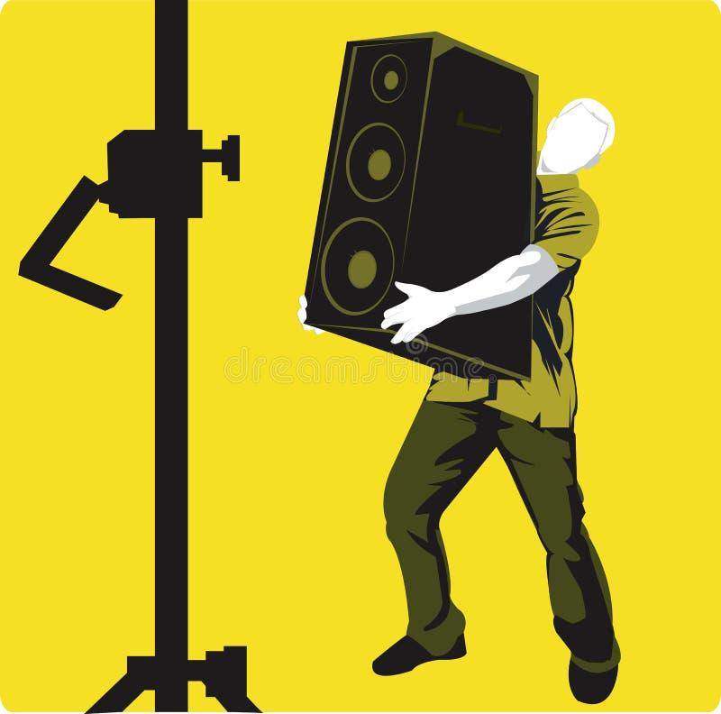 Cadre de haut-parleur illustration libre de droits