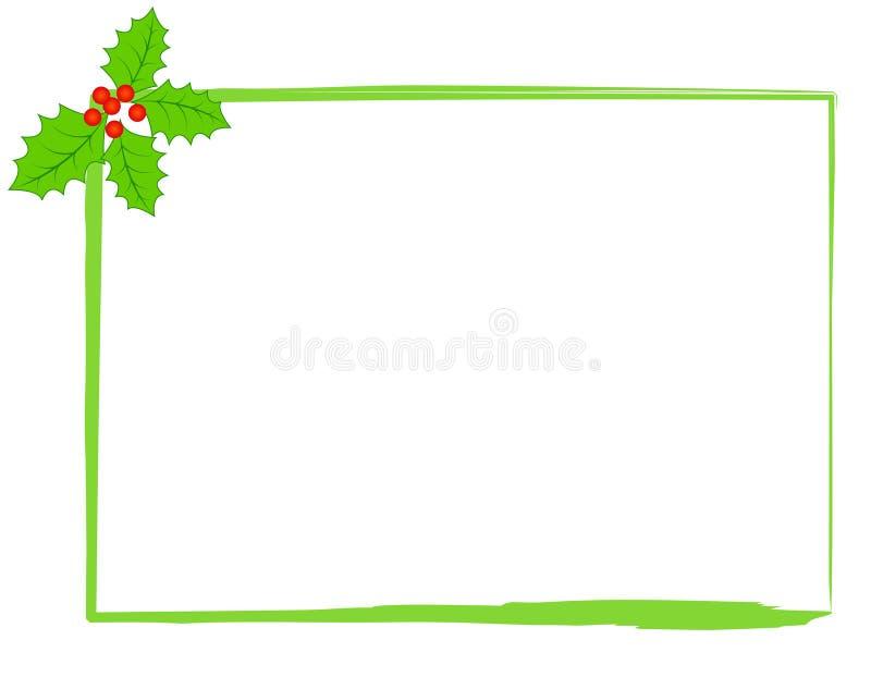 Cadre de houx de Noël illustration libre de droits
