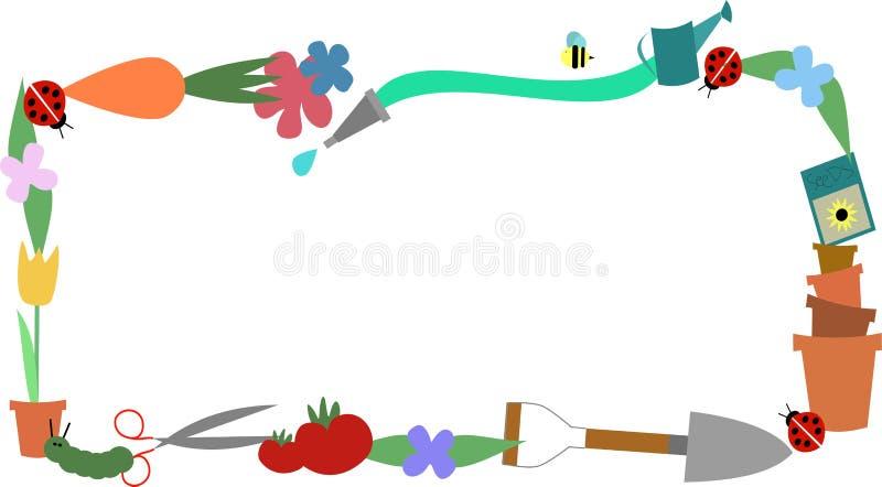 Cadre de jardin illustration libre de droits