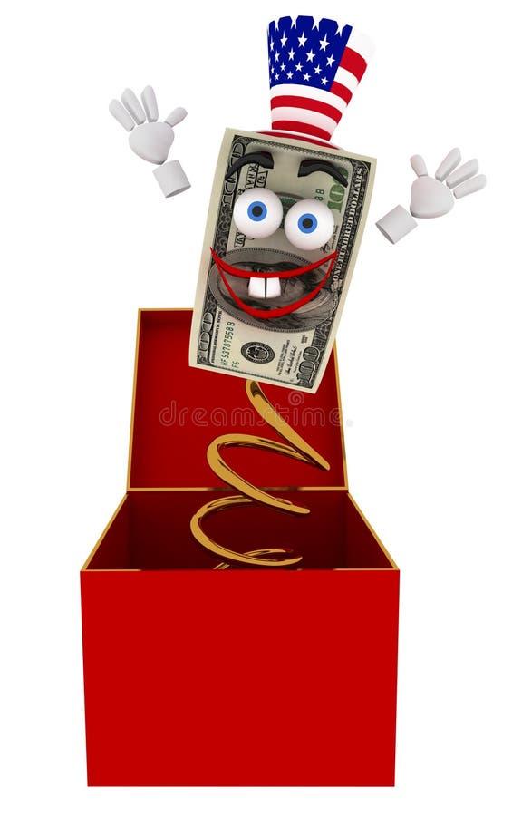 Cadre de jouet du dollar illustration libre de droits