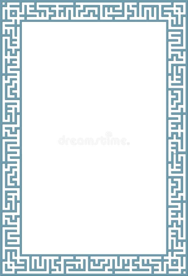 Cadre de labyrinthe illustration stock