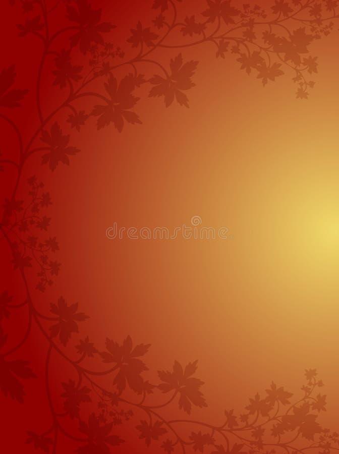 Cadre de lame d'automne illustration stock