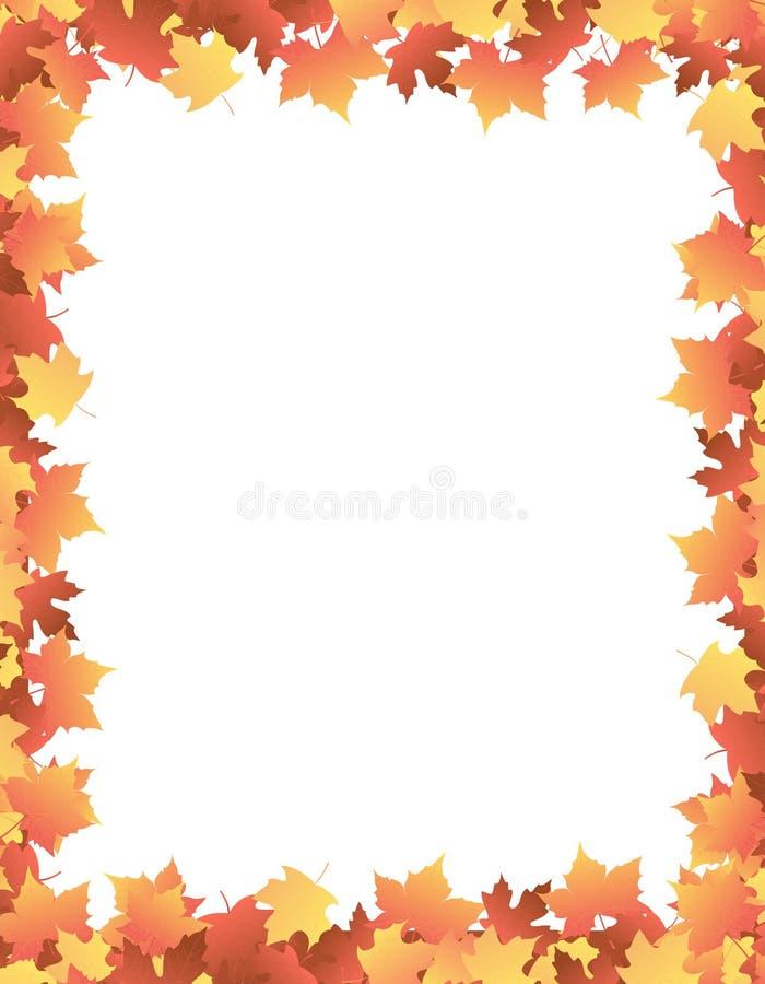 Cadre de lames d'automne [érable] illustration stock