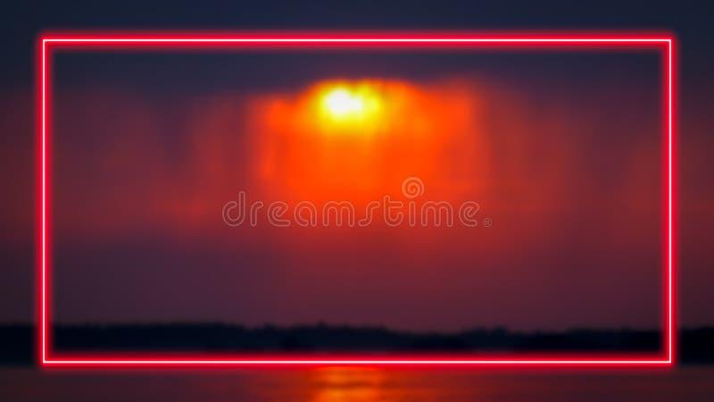 Cadre de lampe au néon pour l'affichage des textes ou de produit illustration libre de droits
