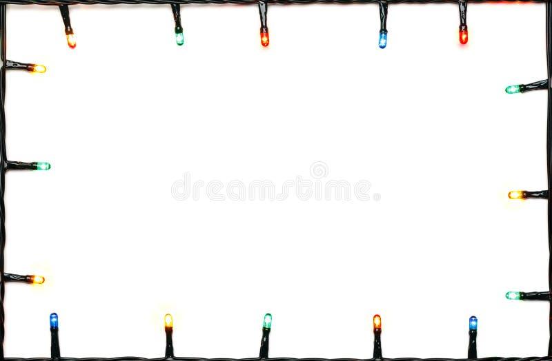 Cadre de lumières de Noël images libres de droits