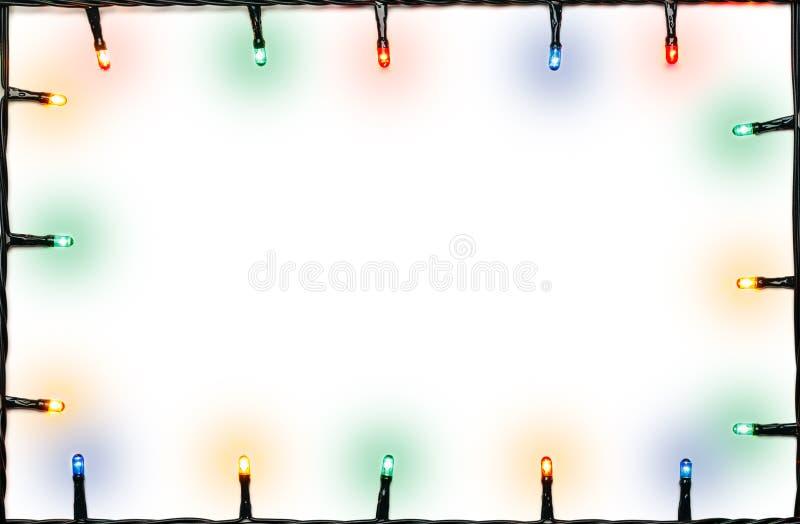 Cadre de lumières de Noël photo stock