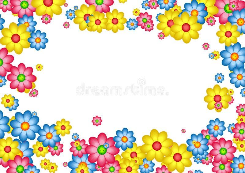Cadre de marguerite illustration stock