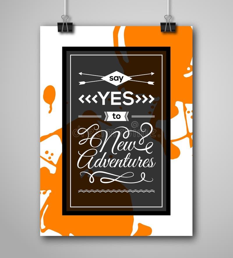 Download Cadre De Motivation De Place D'affiche Avec L'éclaboussure De Peinture Illustration de Vecteur - Illustration du décoratif, carte: 56477840