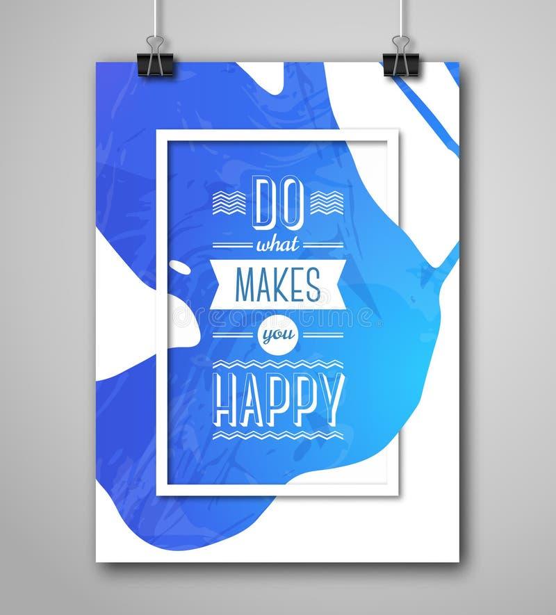 Download Cadre De Motivation De Place D'affiche Avec L'éclaboussure De Peinture Illustration de Vecteur - Illustration du inspiré, couleur: 56477850