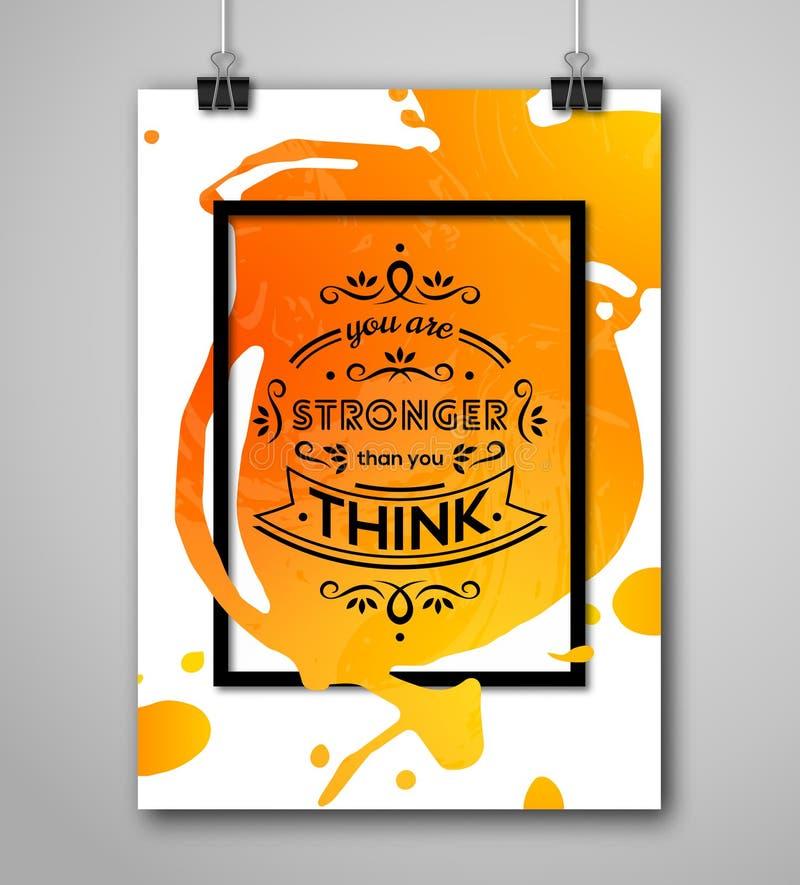 Download Cadre De Motivation De Place D'affiche Avec L'éclaboussure De Peinture Illustration de Vecteur - Illustration du affiche, balai: 56478243