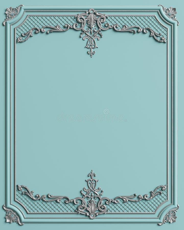 Cadre de moulage classique avec le décor d'ornement illustration de vecteur
