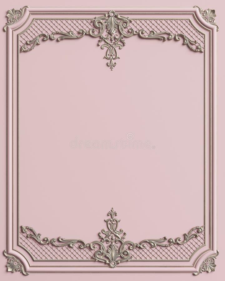 Cadre de moulage classique avec le décor d'ornement illustration libre de droits