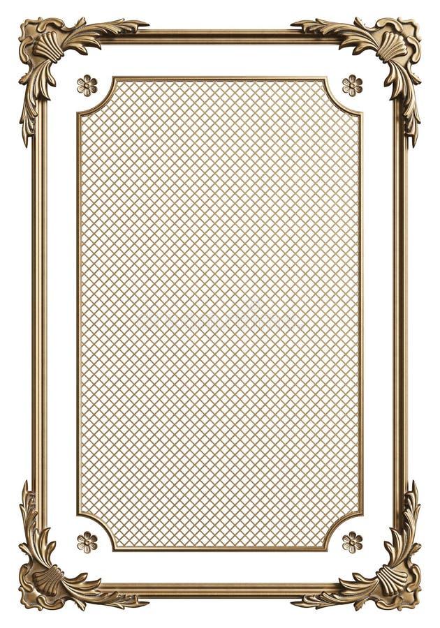 Cadre de moulage classique avec le décor d'ornement pour l'intérieur classique d'isolement sur le fond blanc illustration de vecteur