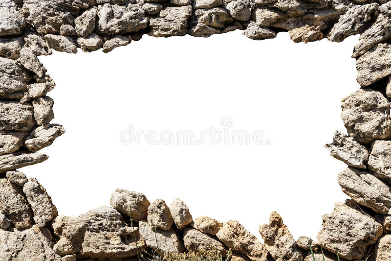 Cadre de mur en pierre avec le trou vide illustration de vecteur
