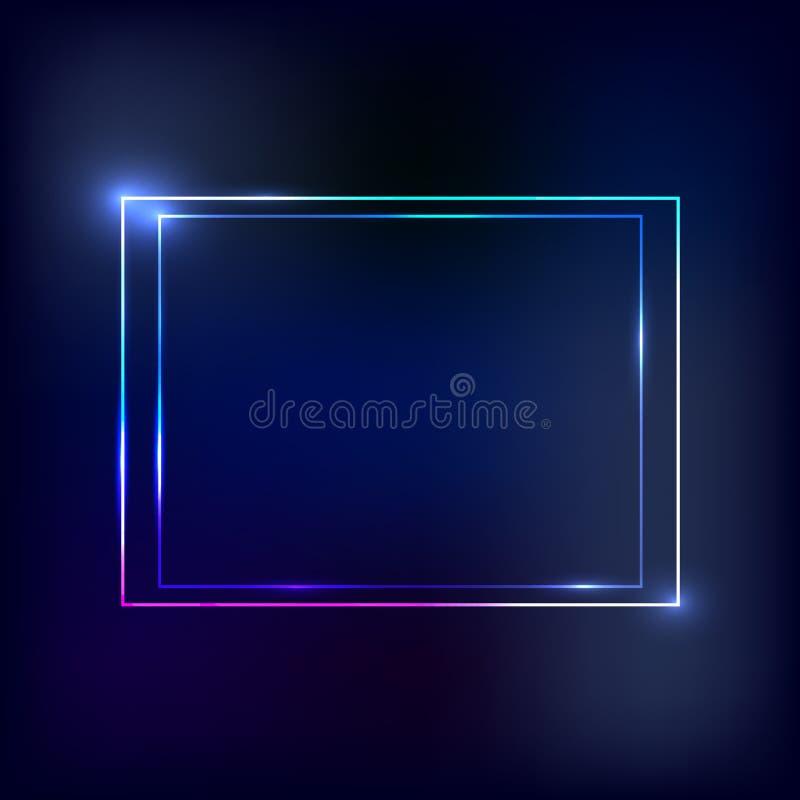 Cadre de néon de vecteur illustration libre de droits