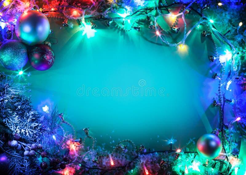Cadre de Noël. photo stock