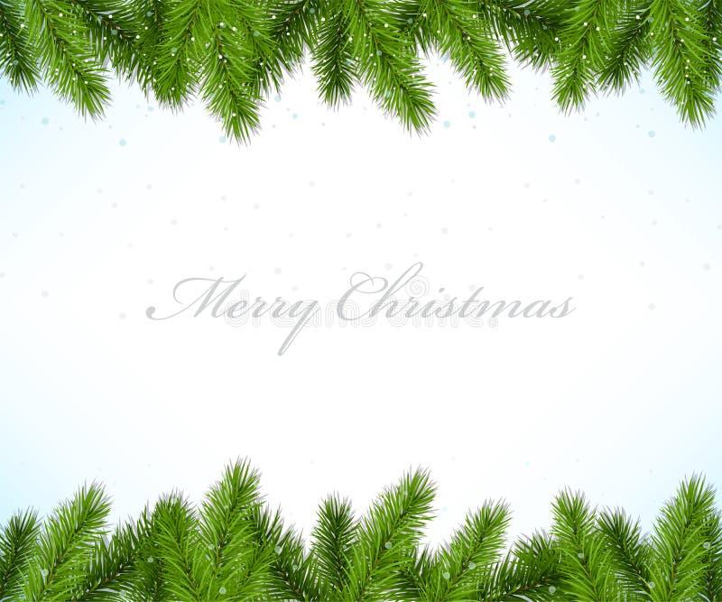 Cadre de Noël avec l'arbre de sapin illustration de vecteur