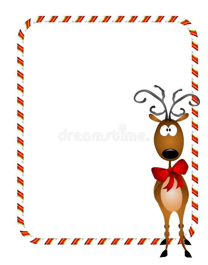 Cadre de Noël de renne illustration libre de droits