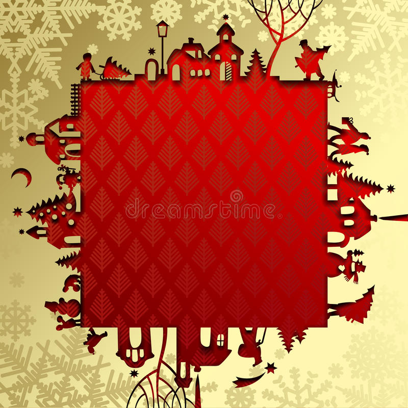 Cadre de Noël et de nouvelle année illustration stock