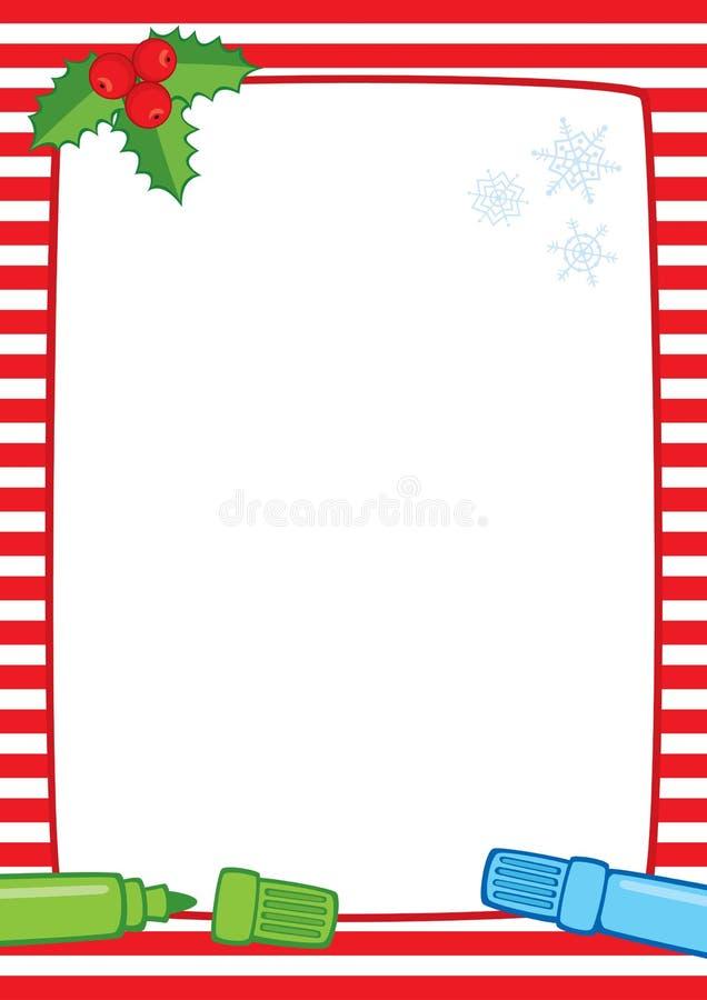 Cadre de Noël et rayures des marqueurs A3 illustration libre de droits