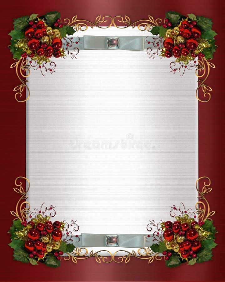 Cadre de Noël ou de mariage de l'hiver illustration libre de droits