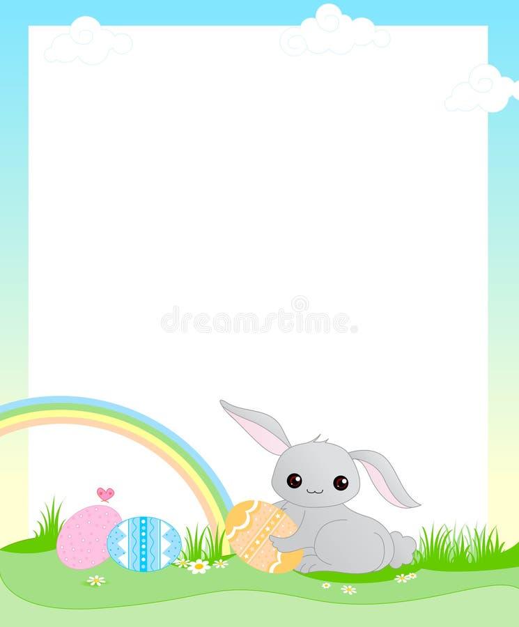 Cadre de Pâques illustration stock