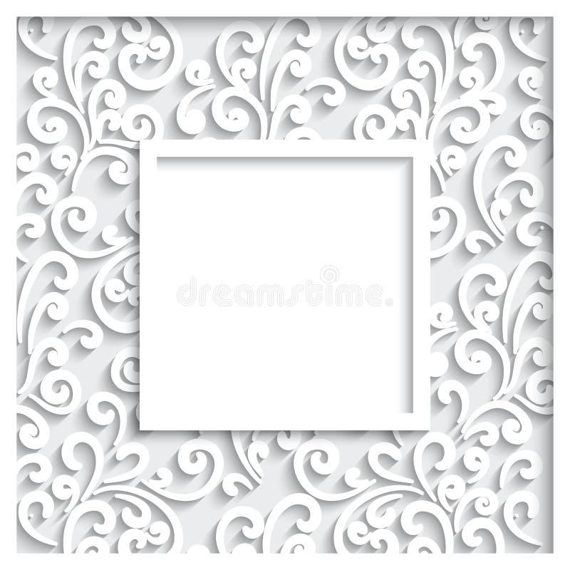 Cadre de papier illustration de vecteur