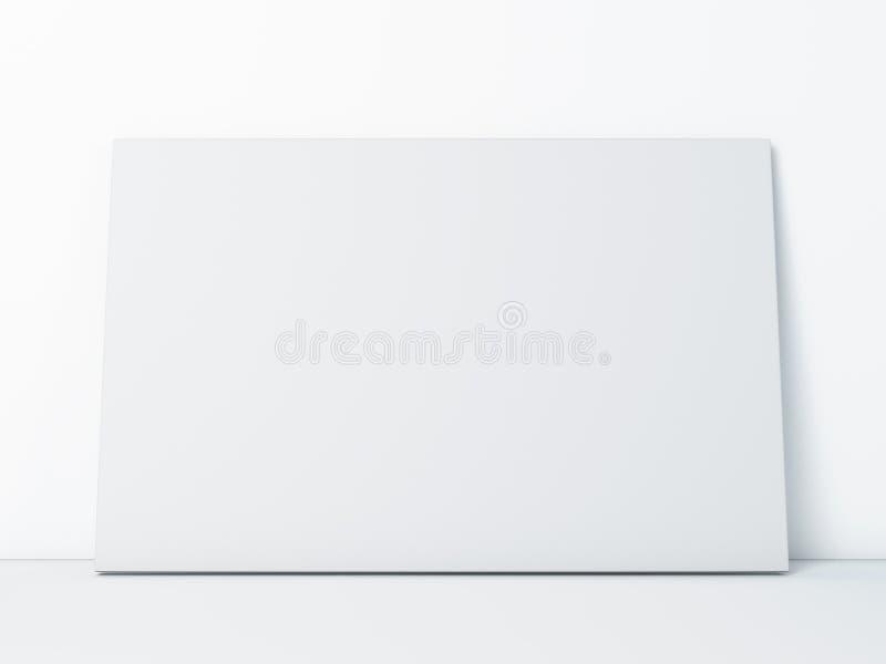 Cadre de papier blanc sur le blanc images stock