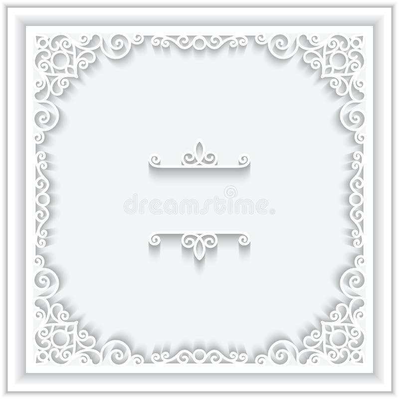 Cadre de papier carré illustration stock