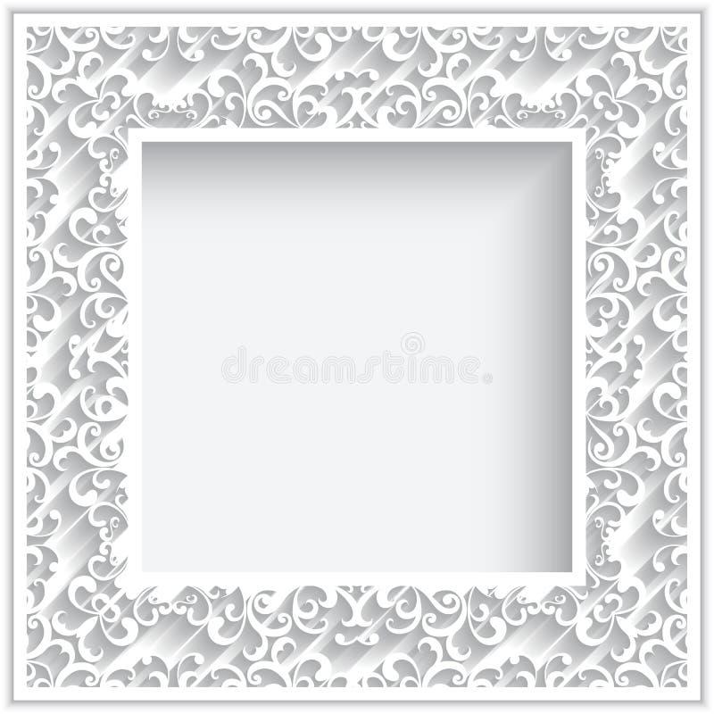 Cadre de papier carré illustration de vecteur