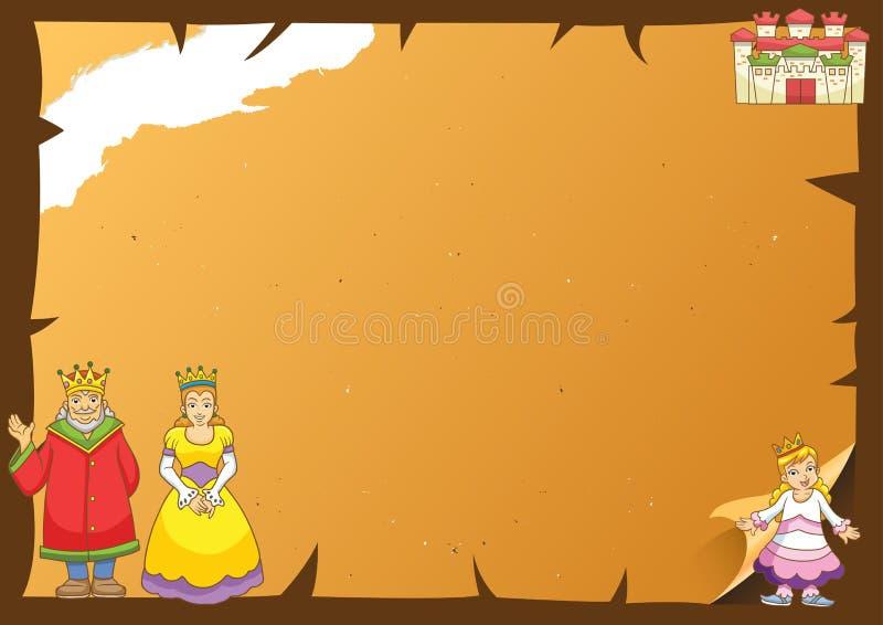 Cadre de papier de conte de fées. illustration stock
