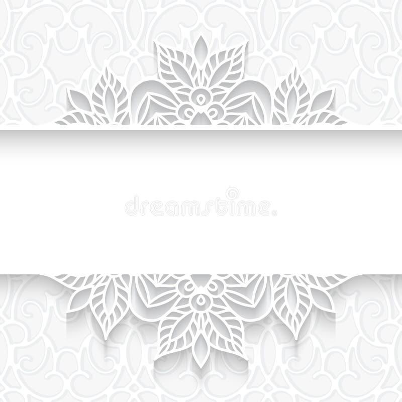 Cadre de papier de diviseur de dentelle illustration de vecteur