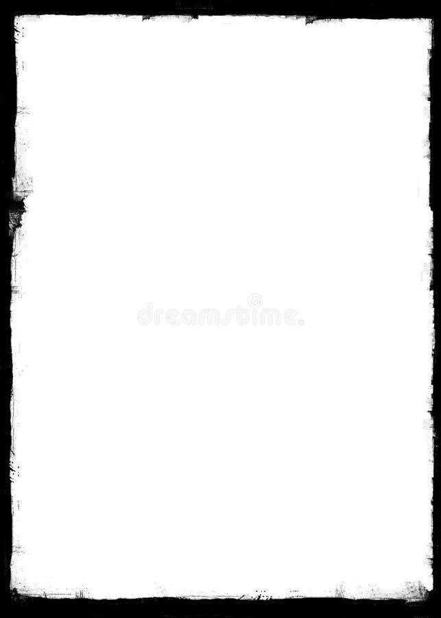 Cadre de papier grunge, effet de brûlure, frontière grunge illustration libre de droits
