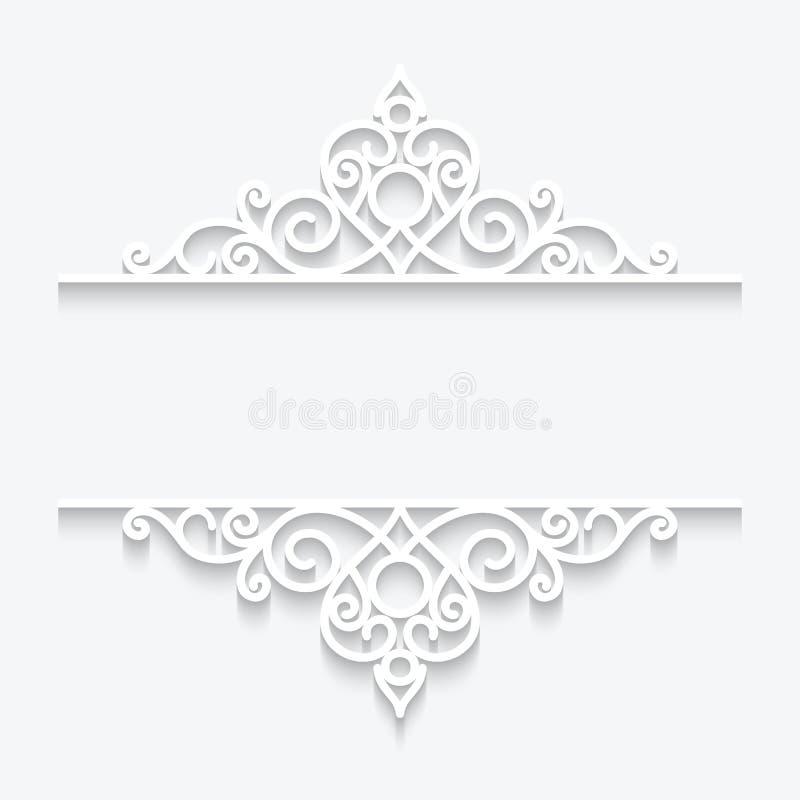Cadre de papier ornemental illustration libre de droits