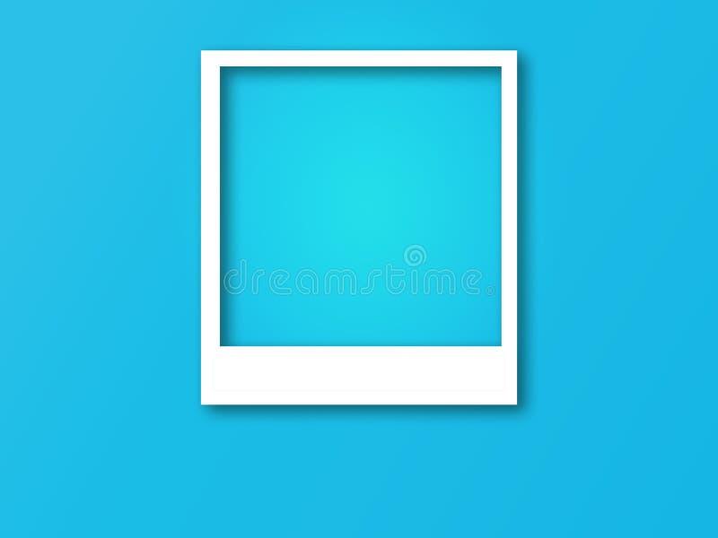 Cadre de photo avec l'espace pour le texte et l'ombre molle illustration libre de droits