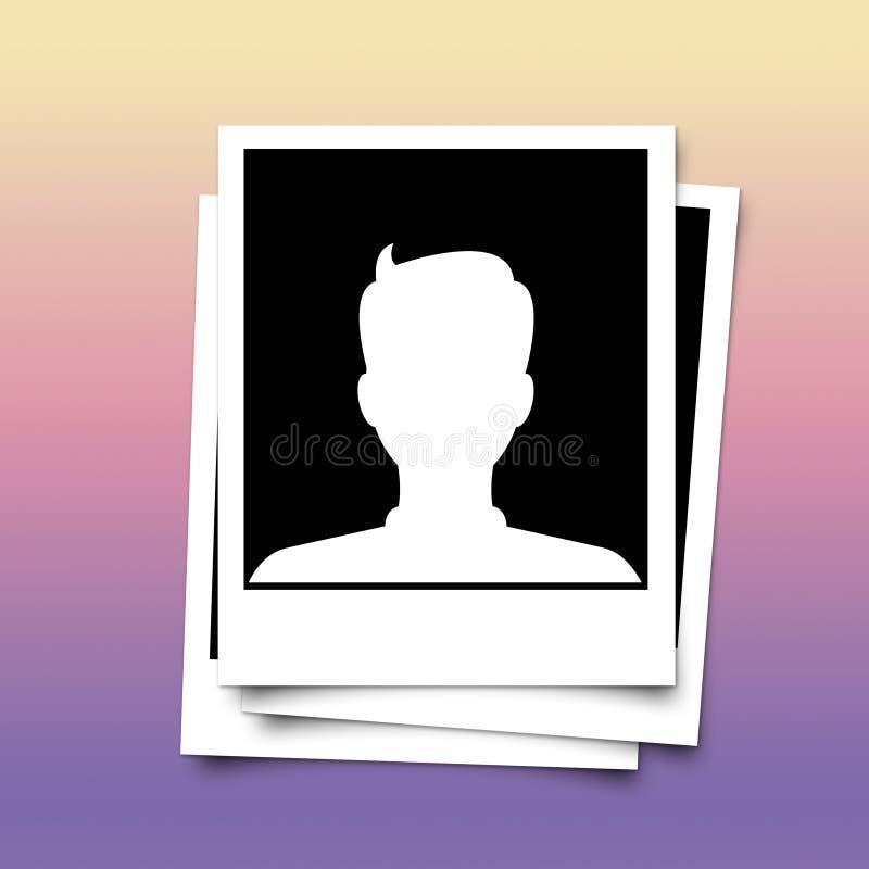 Cadre de photo d'avatar de profil sur le fond abstrait photos stock