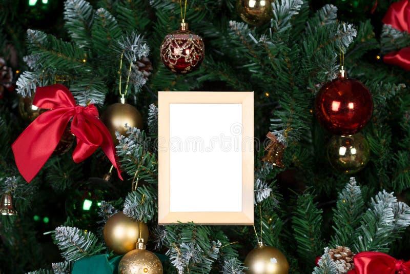Download Cadre de photo de Noël photo stock. Image du vide, vert - 77160152