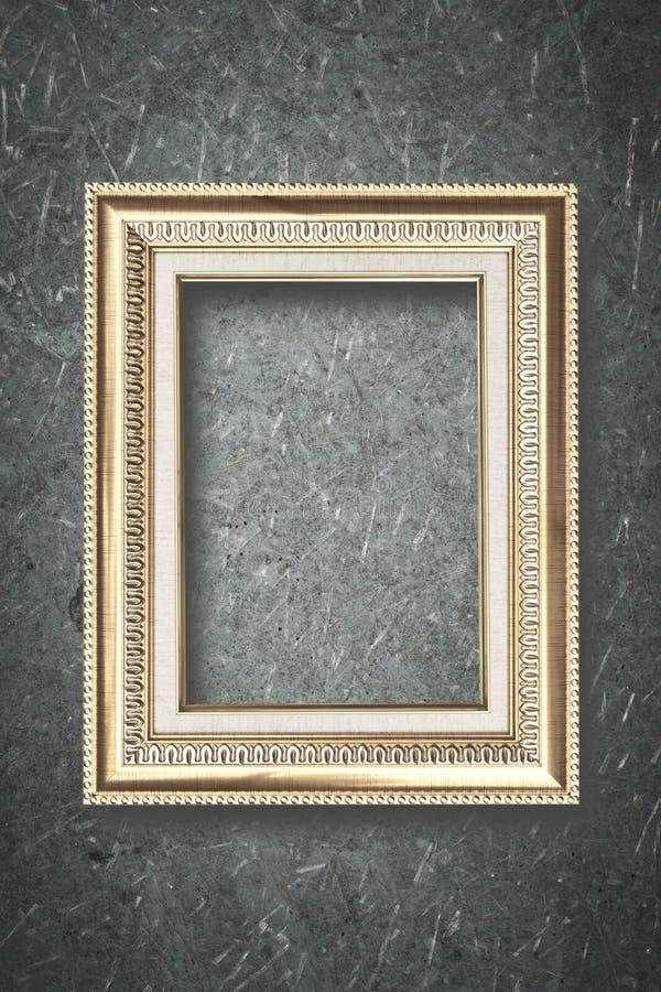 Cadre de photo sur le conseil en bois images libres de droits