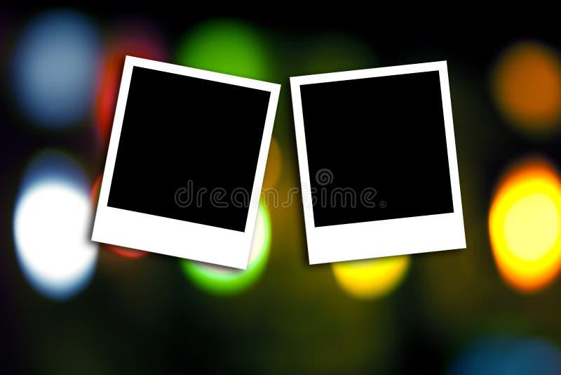 Cadre de photo sur le fond coloré photos libres de droits