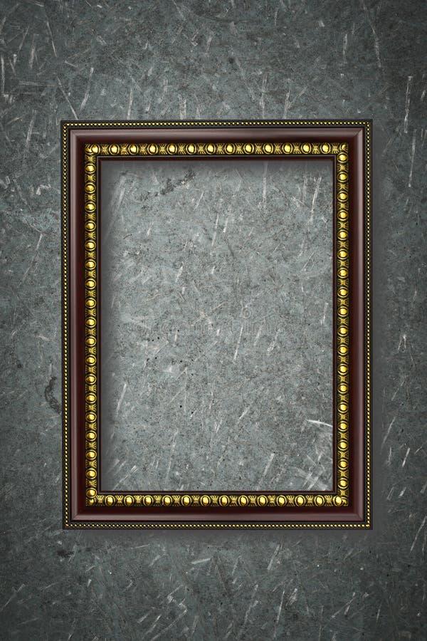 Cadre de photo sur le fond de conseil en bois image libre de droits