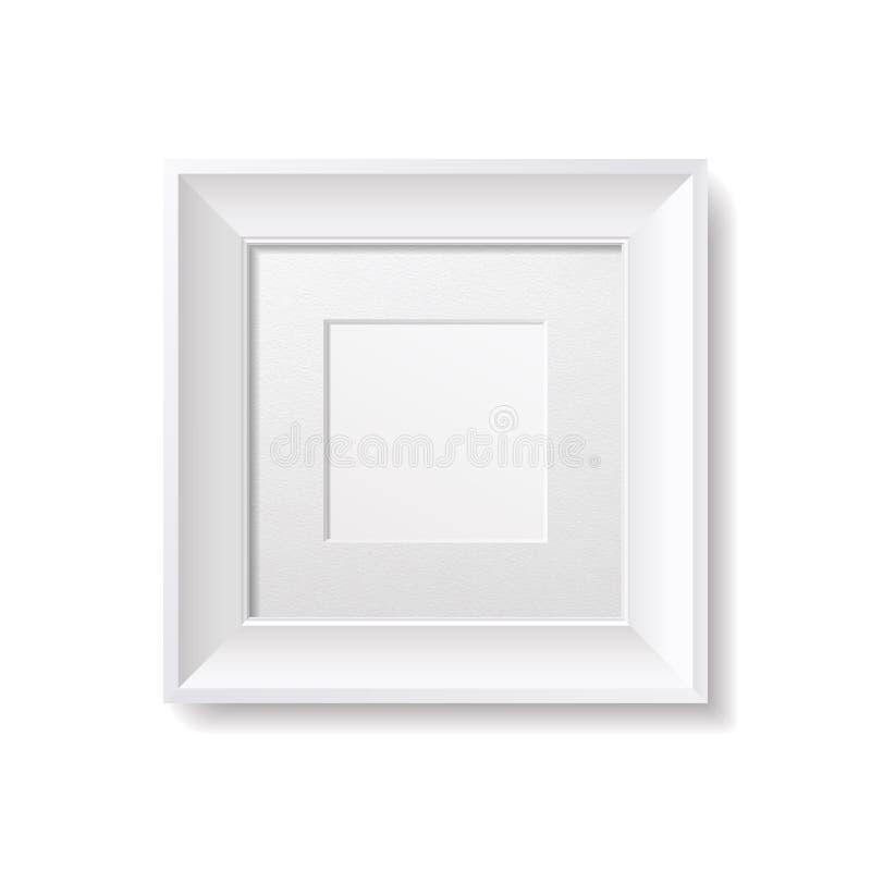 Cadre de place blanche avec le carton Passepartout illustration stock