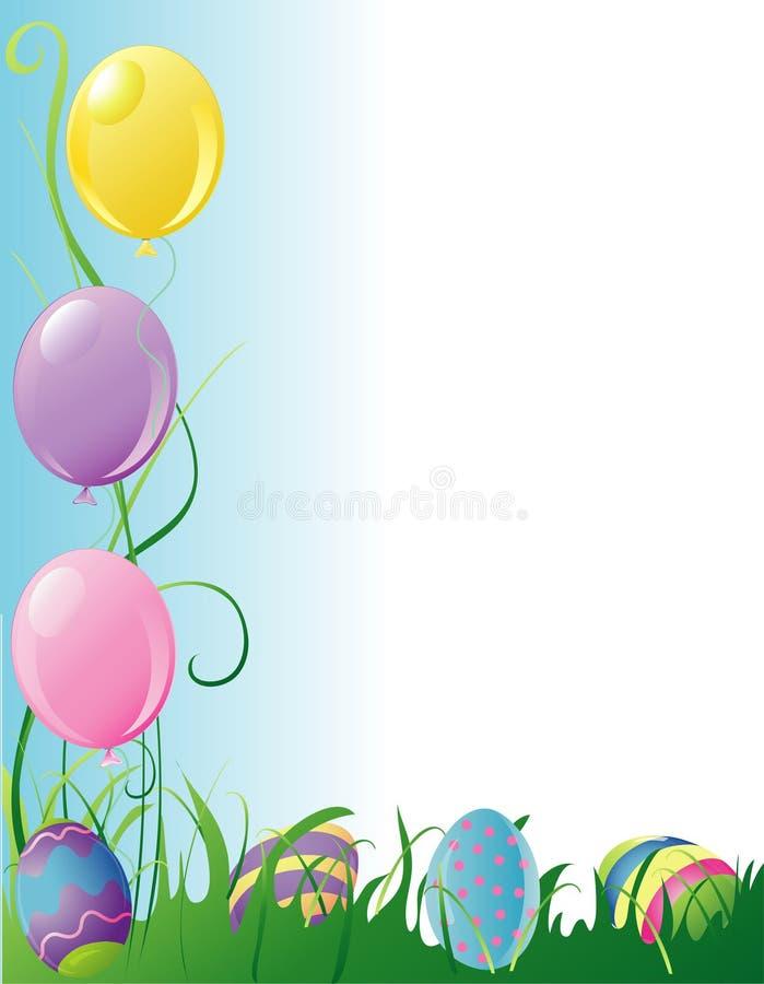 Cadre de réception de Pâques illustration libre de droits