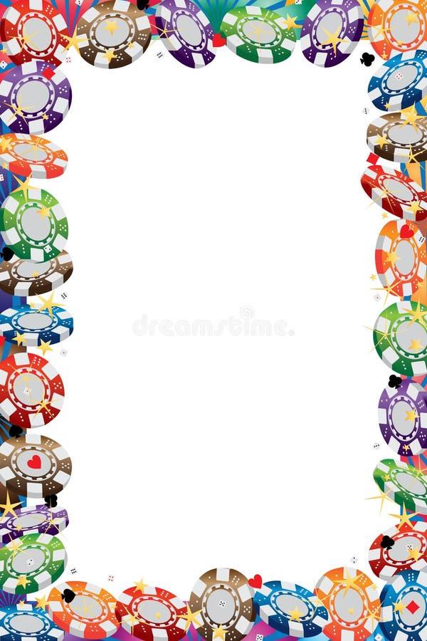 cadre de rayon de pièce de monnaie du casino 3d illustration stock