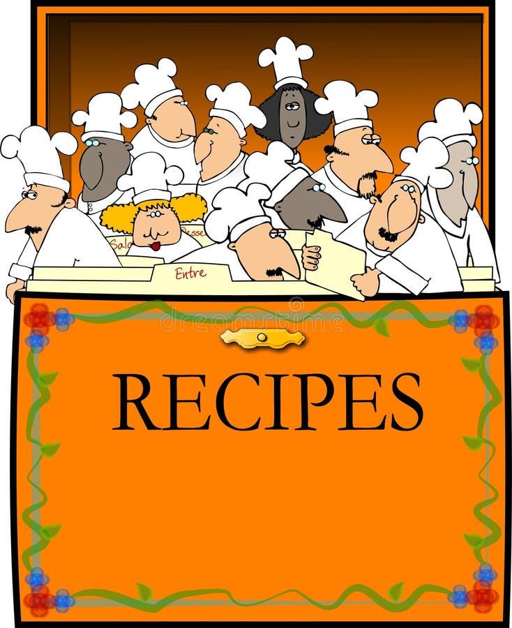 Cadre de recette illustration de vecteur